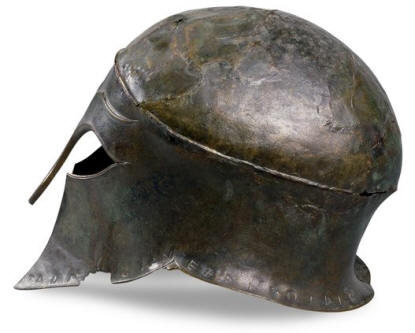 Bronze Helmet from Ancient Greece, around 460 BC