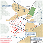 Map of the Battle of Guilford Courthouse - March 15, 1781