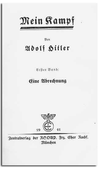MEIN KAMPF BY ADOLF HITLER 1941
