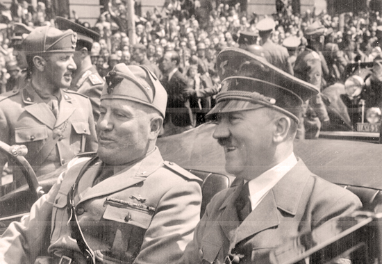 HITLER AND MUSSOLINI IN MUNICH, GERMANY - 1940. World War II Timeline - Year
