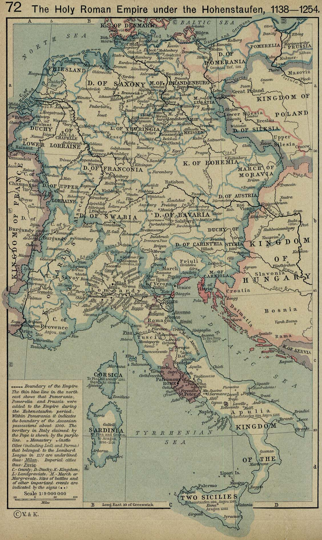 Map Of The Holy Roman Empire 1138 1254