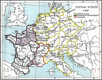 Holy Roman Empire 980 - Map