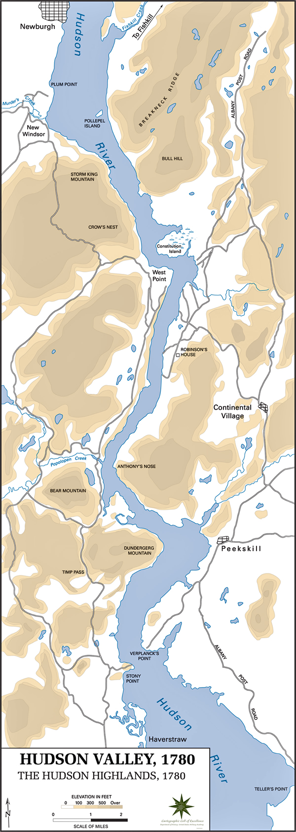 of the Hudson Highlands 1780