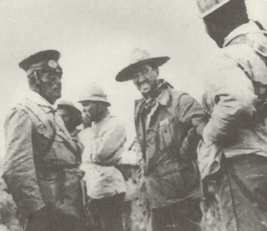 Left to Right: Victoriano Huerta, Emilio Madero, Pancho Villa in 1912