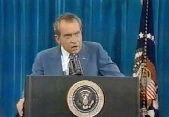 A DARING LIVE Q & A WITH THE PRESS - NIXON IN NOVEMBER 1973