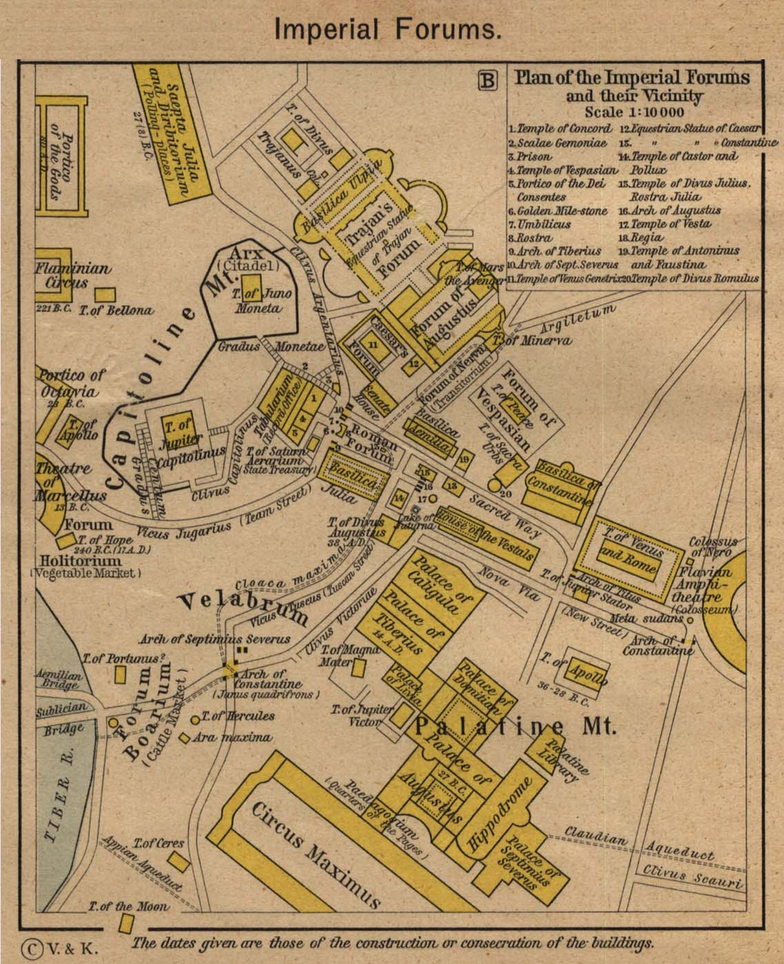 Maps of the Republican and the Imperial Forum Romanum.