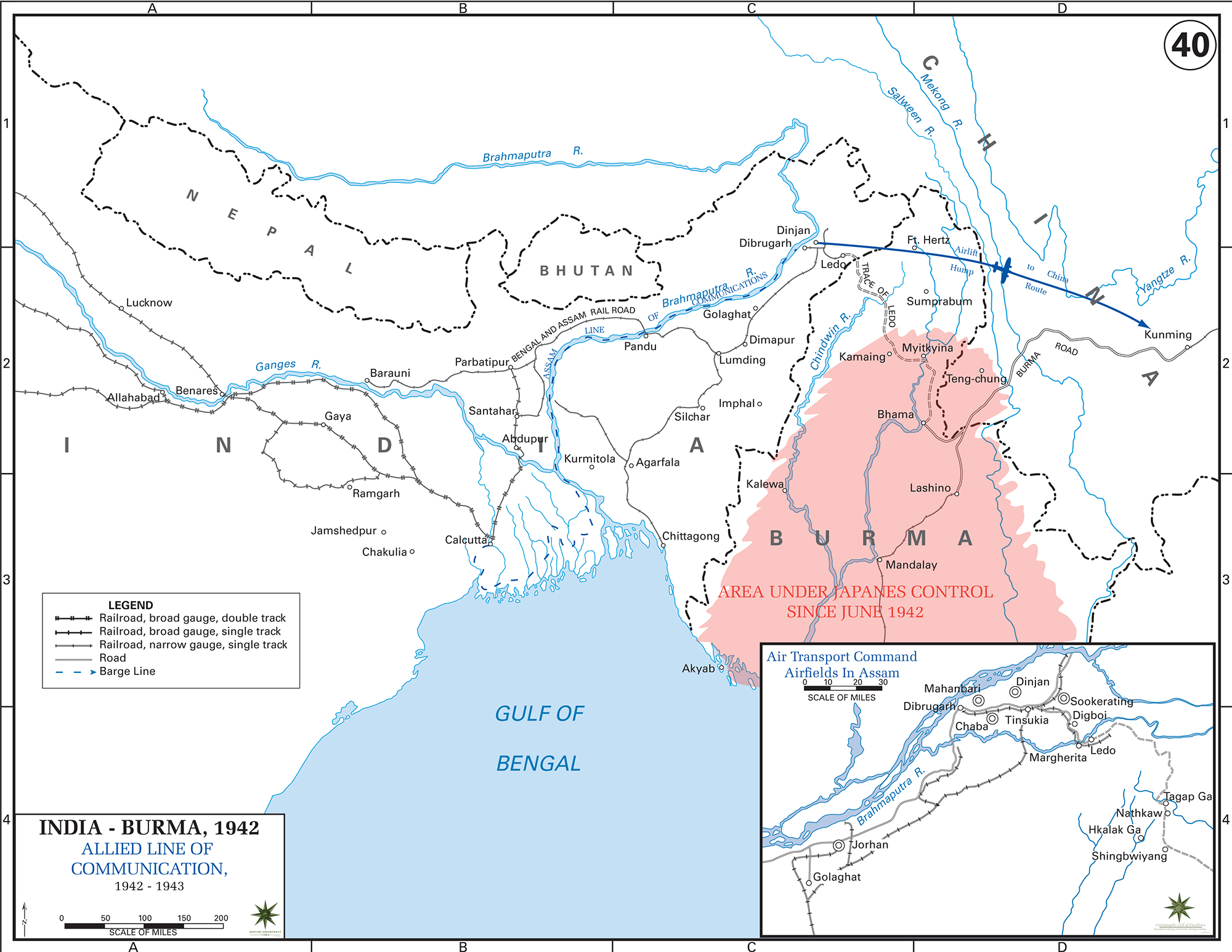 Map Of Wwii India And Burma 1942 43