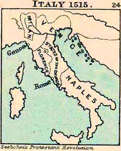 Map of Italy 1515
