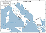 Italy 218 BC - Map