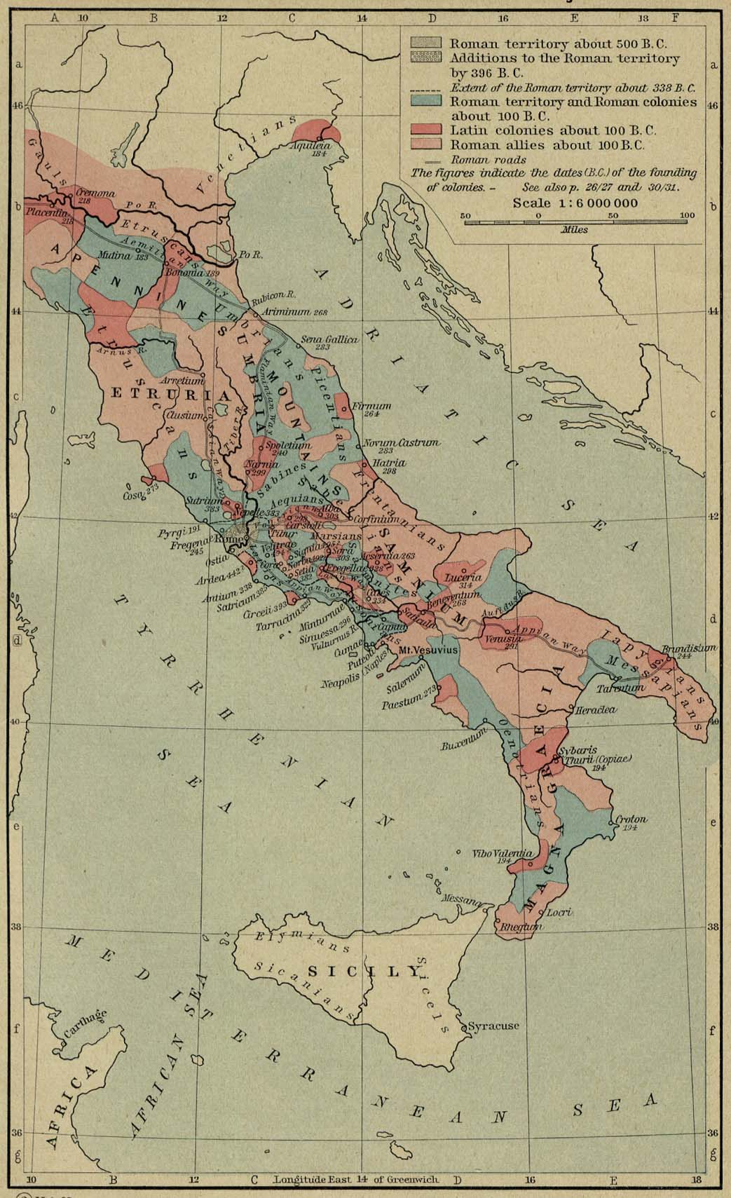 Map Of Italy 500 100 Bc