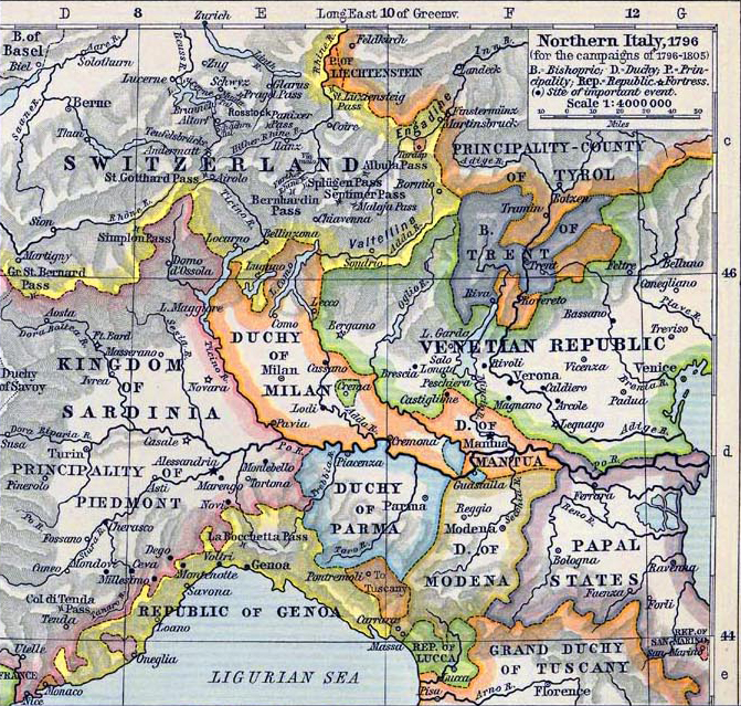 Of Northern Italy - Maps of italy