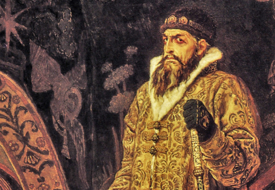 Иван је крунисан 16. јануара 1547. године круном Мономаха коју је по легенди византски цар Константин IX. Мономах даровао своме унуку великом кнезу Кијева Владимиру Мономаху