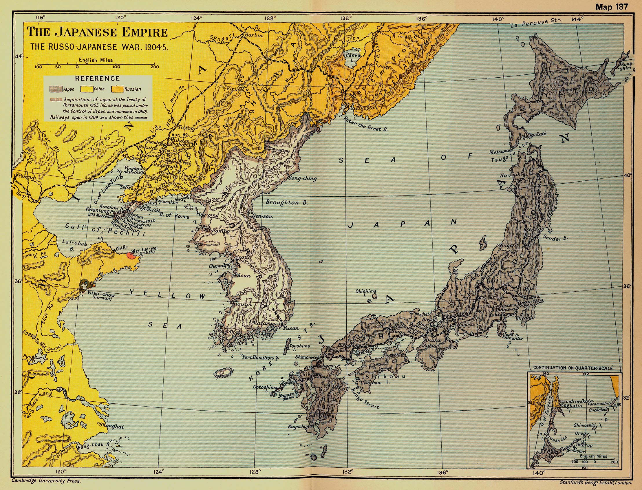 Map Of Japan The RussoJapanese War - Japan map 1500