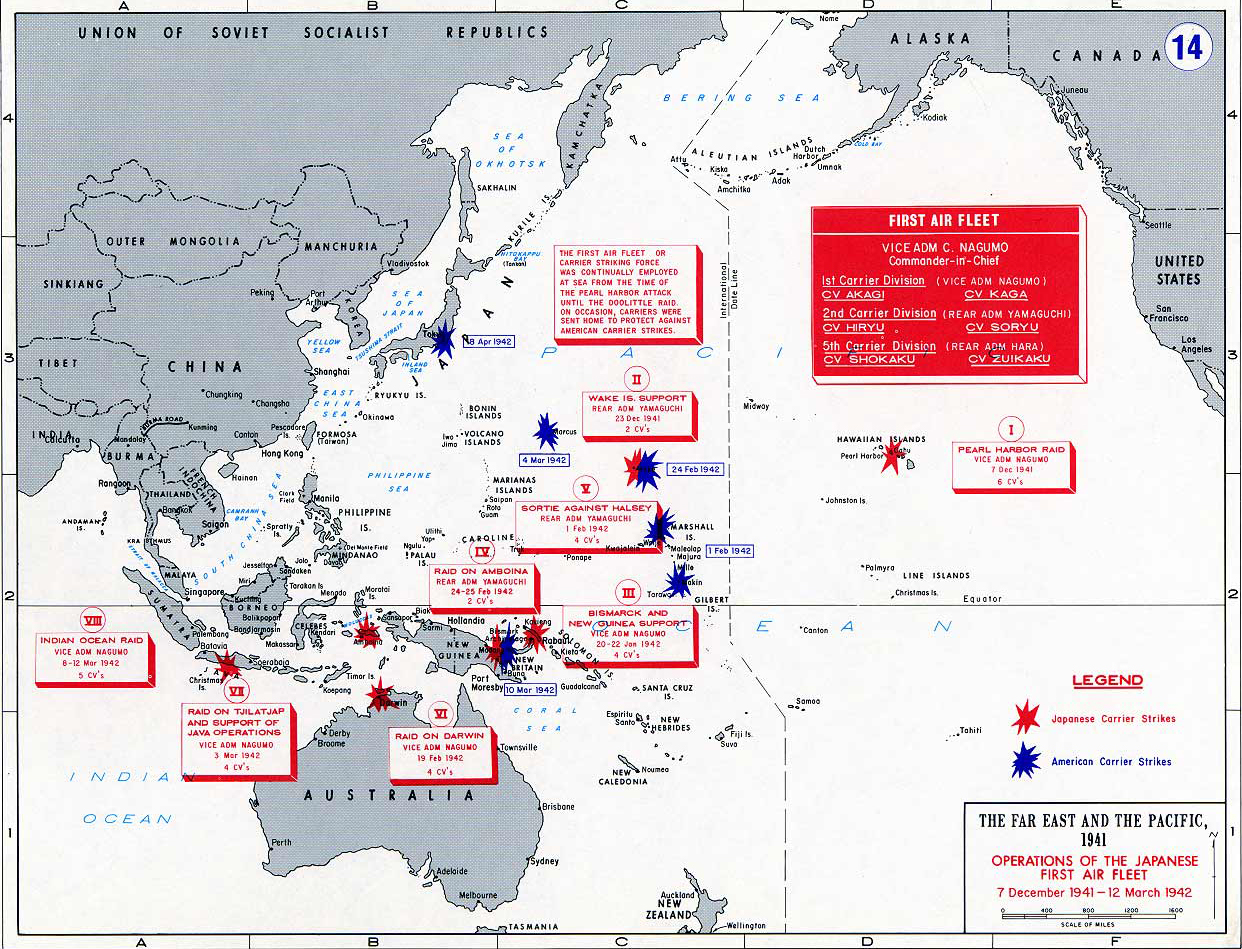 Map Of WWII Japanese First Air Fleet - Japan map 7