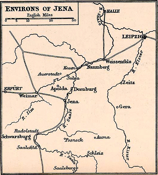 Map of the Environs of Jena 1806