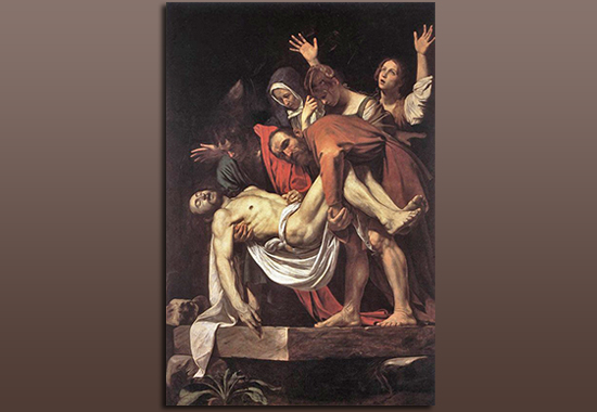 Christ's Deposition from the Cross. Caravaggio's painting.