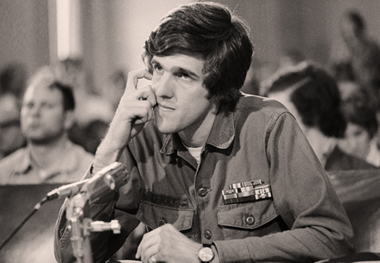 JOHN KERRY DELIVERING HIS TESTIMONY BEFORE THE COMMITTEE