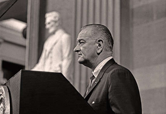 PRESIDENT LYNDON B. JOHNSON AT WASHINGTON D.C. SHORTLY BEFORE SIGNING THE VOTING RIGHTS ACT ON AUGUST 6, 1965