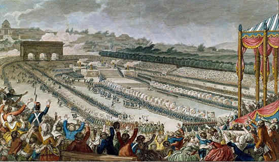 July 14, 1790: 100,000 Parisians at the Champ-de-Mars for the Festival of the Federation