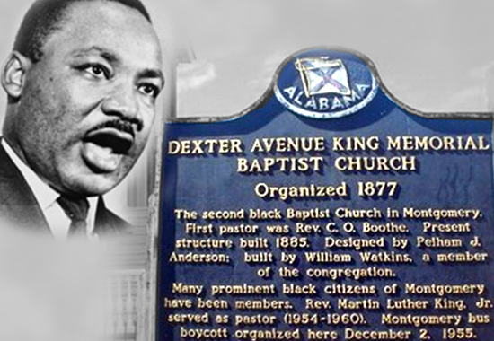 MLK SPEAKS AT DEXTER AVENUE BAPTIST CHURCH - 1957