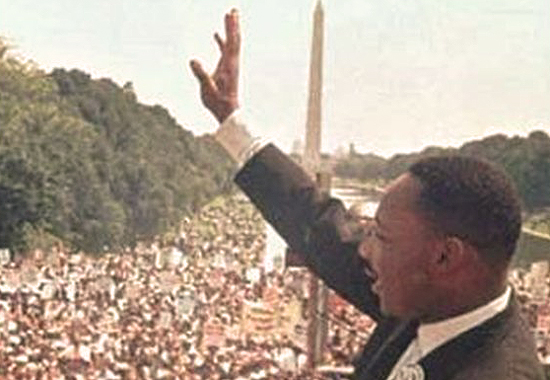 MARTIN LUTHER KING JR AT WASHINGTON D.C. 1963