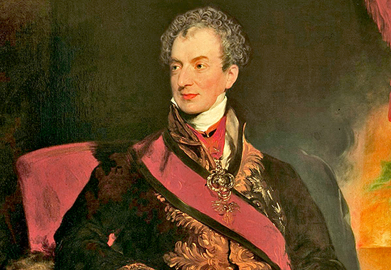 prince metternich The personal understanding established between lord castlereagh and prince  metternich at the congress of vienna, collapsed soon after 1815l a clear.