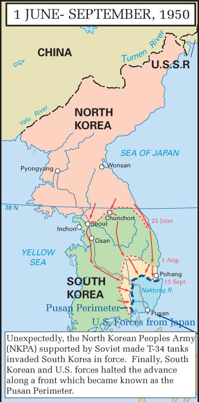 The Korean War 1950 1953 • Mapsof.net