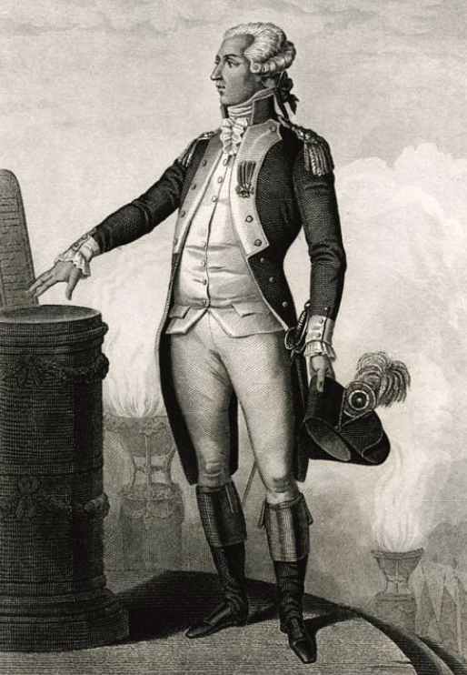 General Lafayette with the Declaration of the Rights of Man and of the Citizen