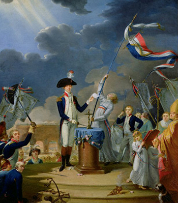Lafayette's Oath at the Festival of the Federation, July 14, 1790 - Le Serment de La Fayette