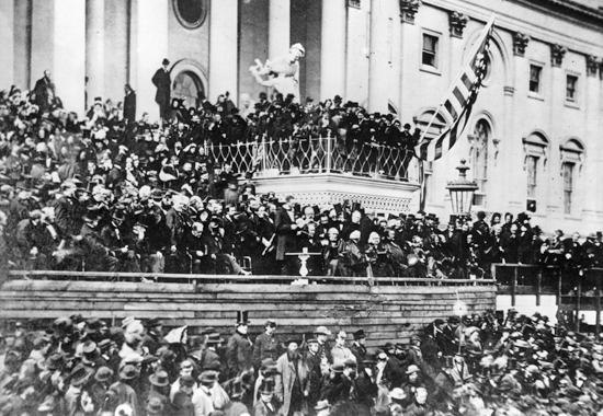 ABRAHAM LINCOLN'S SECOND INAUGURATION - 1865