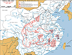Map of China 1934-1936: The Long March