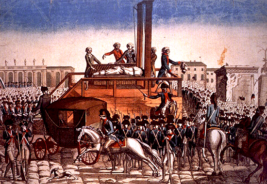 Execution of King Louis XVI of France on the guillotine, Paris, 1793