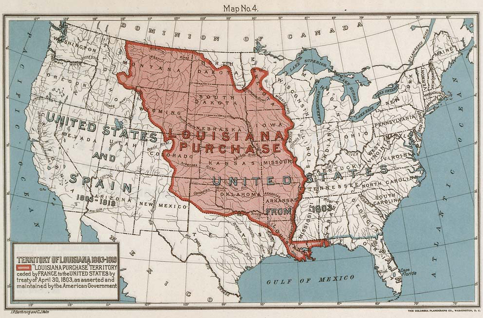 Map Of The Louisiana Purchase 1803