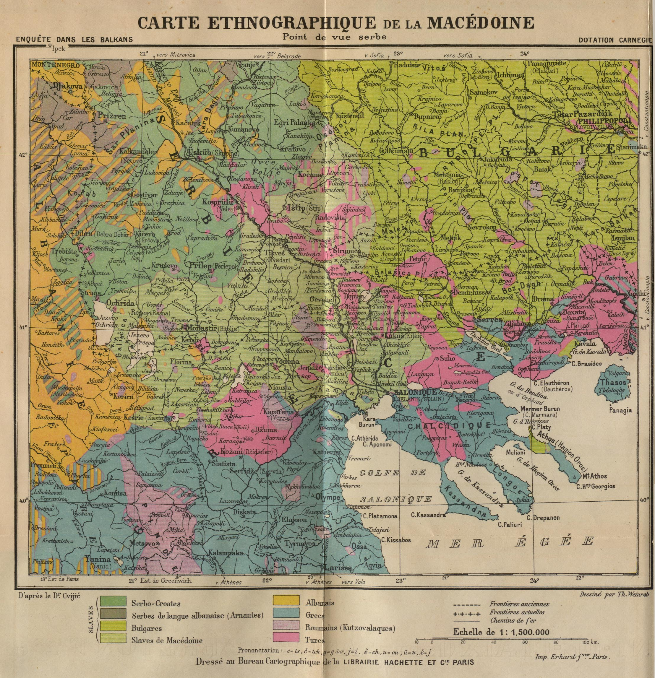 Map of macedonia 1914 serbian map of macedonia from the point of view of the serbs 1914 sciox Images