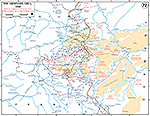 Map of World War II: Ardennes, German Attack and Operations December 16-25, 1944