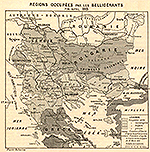 Balkans April 1913: Serbia, Montenegro, Bulgaria, Greek, Border Albania after the Conference at London, Border after the Serbo-Bulgarian Treaty of March 13, 1912