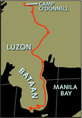 Route of the Bataan Death March