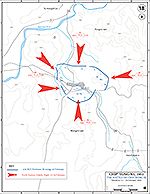 Map of the Korean War: The Battle of Chip' Yong-Ni (Chipyong-Ni) February 13-15, 1951.