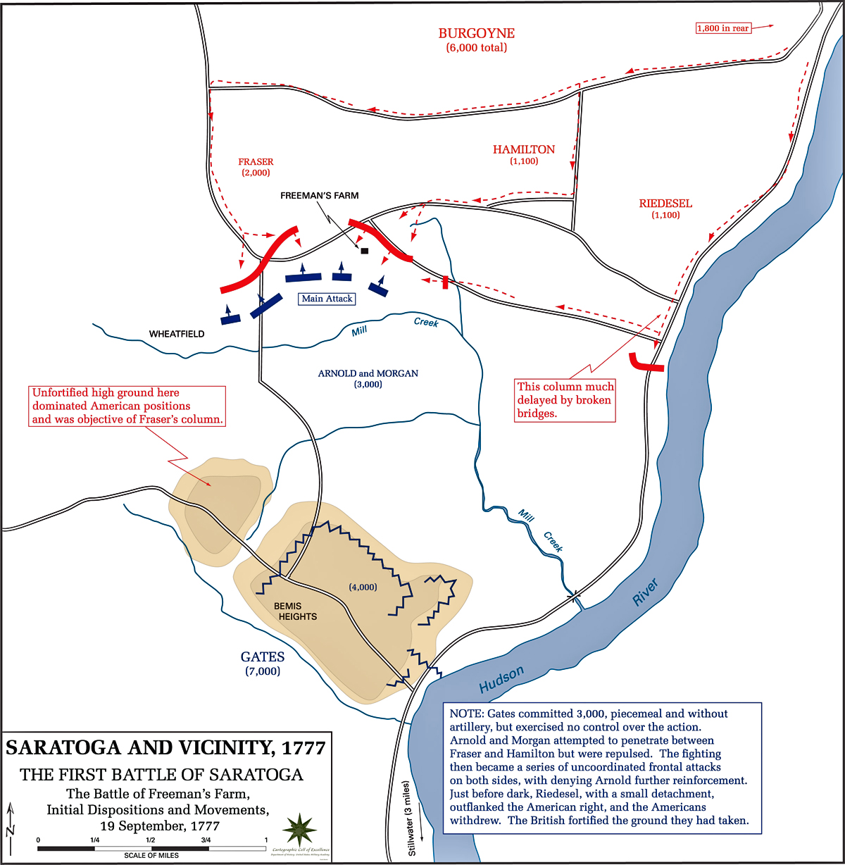 Battle Of Bunker Hill Simple Map  Viewing Gallery
