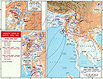 Map of World War II: China and Burma. Third Burma Campaign. Initial Engagements November 1943 - May 1944.