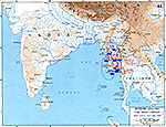 Map of World War II: Third Burma Campaign. Allied Victory, April - May 1945.