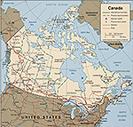 Map of Canada 1999.