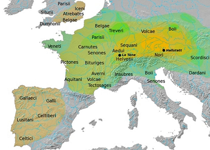 Historical Map of the Celtic Tribes