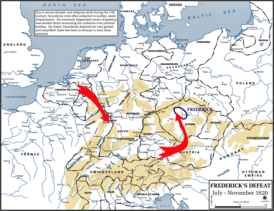 Of The Thirty Years War Fredericks Defeat - Map germany thirty years war