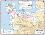 Normandy Invasion: June 13-30, 1944. Capture of Cherbourg.