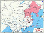 Map of China. Territory Occupied Prior to 1938. Japanese Advances in China During 1938 and 1939.