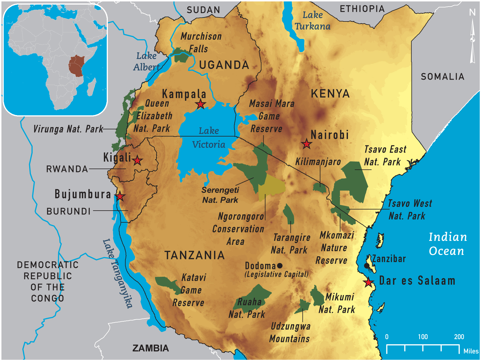 Of East Africa - Map of eastern africa