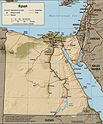 Map of Egypt 1997