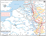 Map of World War II: Western Europe, 6th and 12th Army Group, Operations November 8 - December 15, 1944