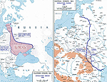 Map of WWI: Eastern Front 1917-8